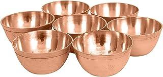diollo Set of 7 Brass Yoga Meditation Altar Tibetan Buddhist Supplies Offering Bowls