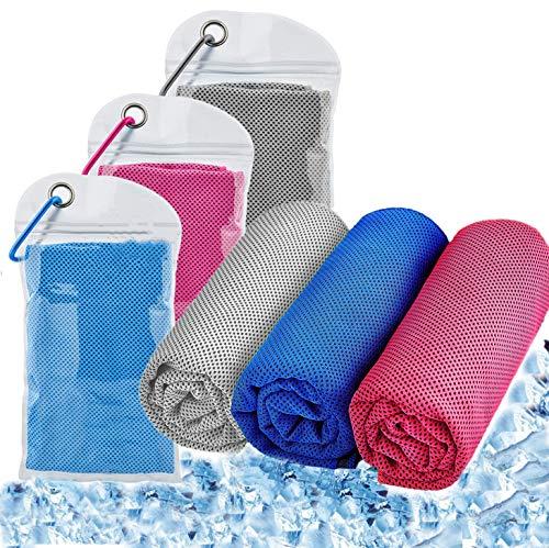 Serviette de Refroidissement Serviettes de Sport en Microfibre Soulagez Les bouffées de Chaleur, pour Yoga, Cyclisme, Randonnée, Golf, Fitness, Football(100X30cm)