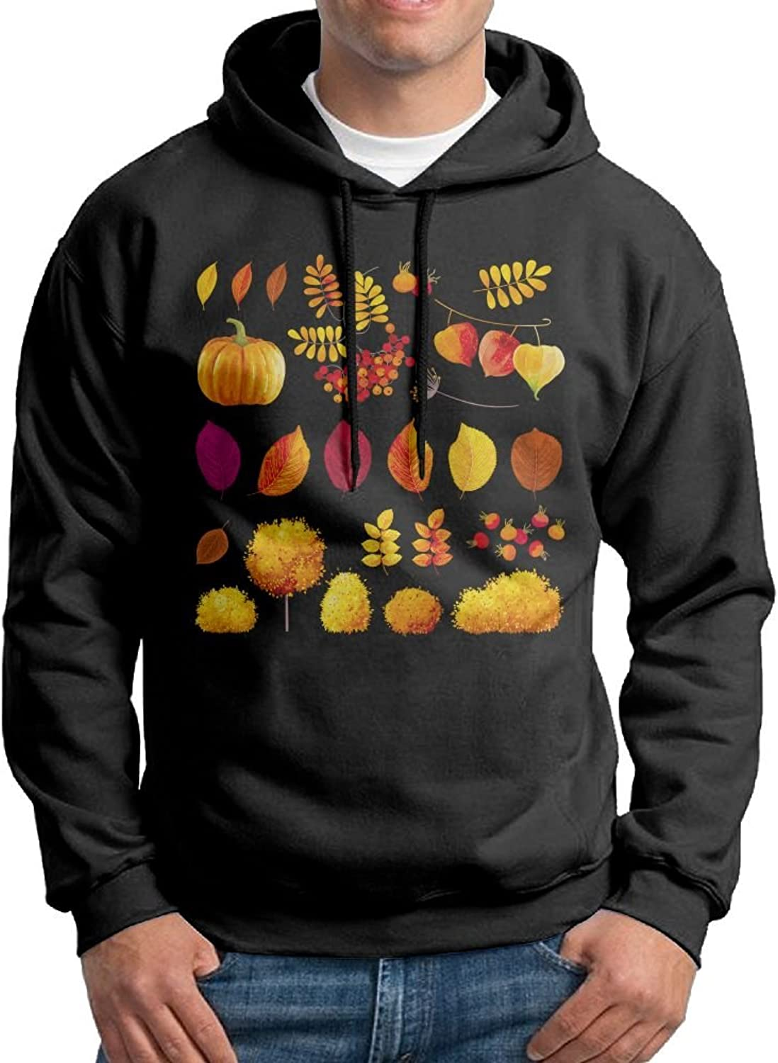 3295bc435e6 Fashion Men's Athletic Thanksgiving Day Day Day Harvest Print Soft & Cozy  Drawstring Hooded Without Pocket Hoodie White c1ce8c
