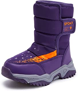 BMCiTYBM Kids Snow Boots Boys Girls Toddler Winter Waterproof Shoes Cold Weather Outdoor Lightweight (Toddler/Little Kids/...