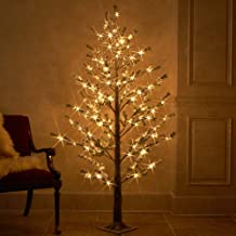 Hairui Pre Lit Faux Norway Pine Tree Snow Flocked 6FT 126LED for Indoor Outdoor Christmas Decoration Artificial Tree Lights Wire Invisible 2019New