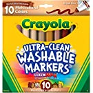 Crayola Ultra Clean Washable Multicultural Markers, Broad Line, 10 Count