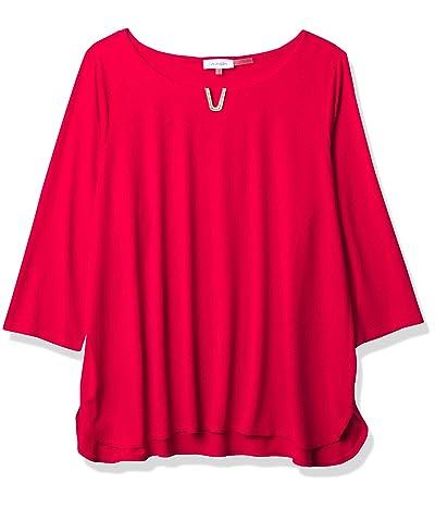 Calvin Klein 3/4 Sleeve Top With Hardware