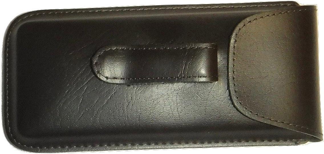 Semi Hard Pocket Clip EyeGlass case Regular Size (Brown)