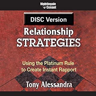 Relationship Strategies     Using the Platinum Rule to Create Instant Rapport              By:                                                                                                                                 Tony Alessandra P.h.D.                               Narrated by:                                                                                                                                 Tony Alessandra Ph.D.                      Length: 5 hrs and 54 mins     18 ratings     Overall 3.9