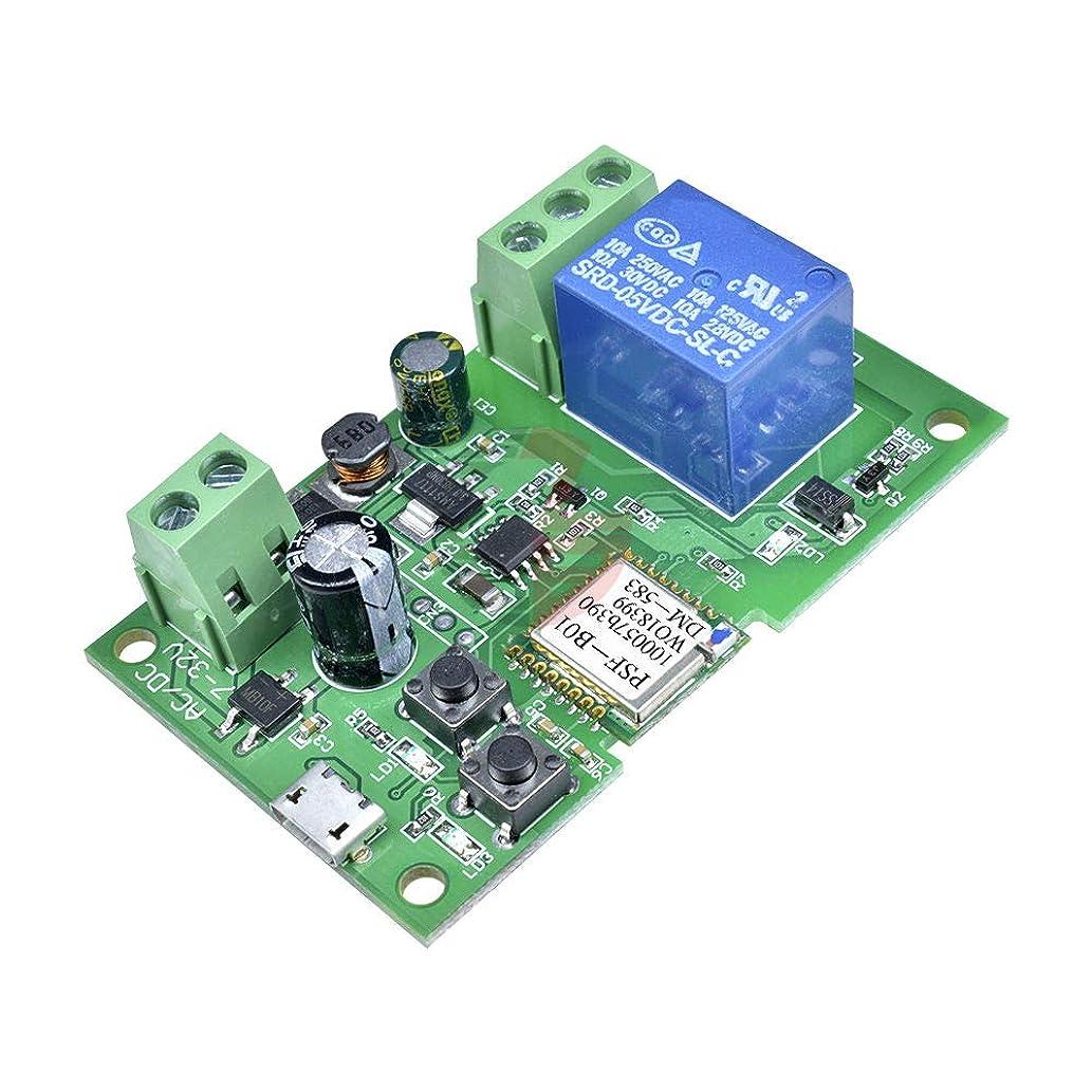 添付ラッカスマトリックスDC 5 V-12 V スマート Wifi リレーモジュールセルフロックワイヤレスリモート App 制御スイッチ時間遅延リレースイッチマイクロ Usb