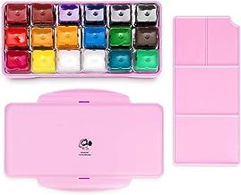 Arrtx Gouache Paint Set, 18 Colors x 30ml Unique Jelly Cup Design, Portable Case with Palette for Artists, Students, Gouac...