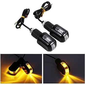 Giallo sharplace 1/Coppia di 9/LED indicatore del segnale del motociclo Indicatore di direzione luce lampada per motociclo