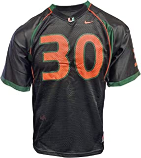 NIKE Miami Hurricanes (University of) Kids/Youth College Football Jersey Size L 14-16 Black