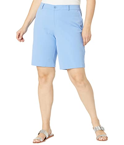 LAUREN Ralph Lauren Plus Size Bi-Stretch Twill Shorts Women