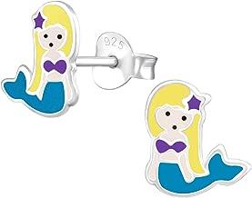 monkimau 925plata Mar de Virgo de S para niños joyas mujer mujeres chica de pendientes regalos