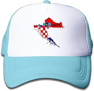 Hot Topic Croatia Flag Map Youth Snapback Cap Hat Boys Girls Adjustable Unisex