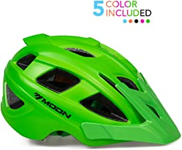 MOON Kids Bike Helmet,Knucklehead Unisex Youth Mountain Road Bicycle Helmet for Girls and Boys with Detachable Visor
