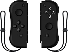 Kinvoca Joy Pad Controller for Nintendo Switch, L/R Switch Controller Replacement, Wired/Wireless Switch Remotes - Full Black