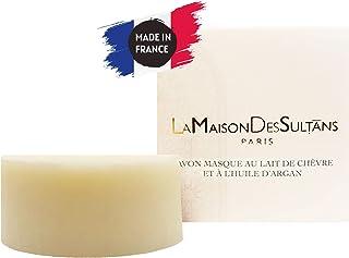 La Maison des Sultans - Savon Masque Lait de Chèvre et Huile d'Argan - Nettoie la Peau - Ingrédients Anti-Imperfections - ...