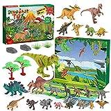 BOXYUEIN Calendario Adviento 2021, Regalos Navidad Niños Dinosaurios Juguetes 2 3 4 5 6 7 años Regalos para Niños de 2-10 años Juguetes para Chicos de 2-10 años Kinder Calendario de Adviento