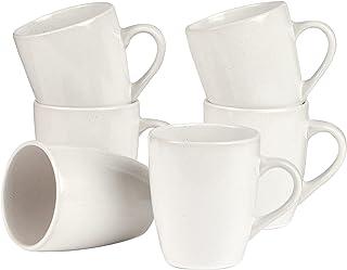 Cooper & Co. Mari Mug Set of 6 Pieces, 400 ml Capacity, White