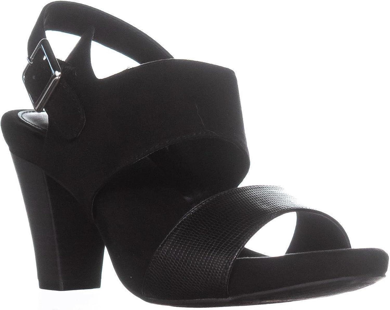 Giani Bernini Womens Aikko2 Leather Open Toe Casual Slingback Sandals