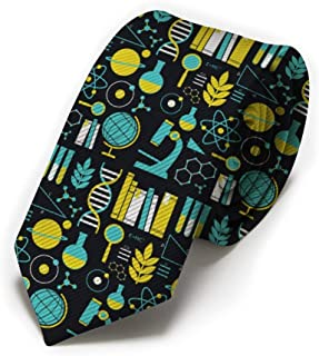 Men Novelty Neckties Suit Accessories - Science Math Physical Chemical Biology Tie for Weeding Prom Reception, Party,Schoo...
