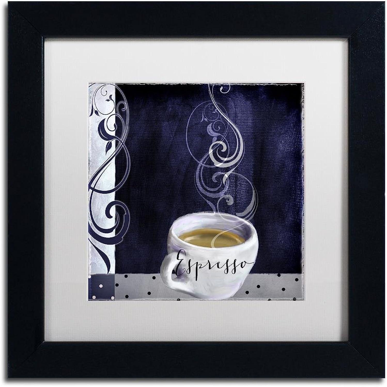Trademark Fine Art Cafe bluee IV by color Bakery, White Matte, Black Frame 11x11, Wall Art