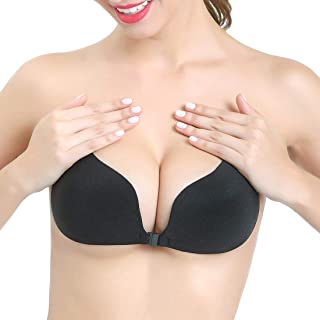 Strapless Bra for Women, Self Adhesive Invisible Pasties Sticky Push Up Backless Cleavage Cover