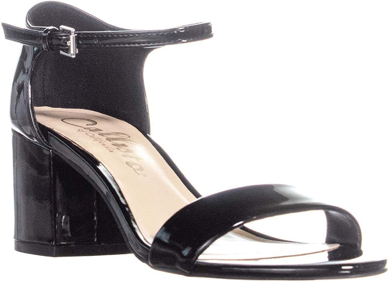 Callisto Palmer Ankle Strap Sandals, Black Patent
