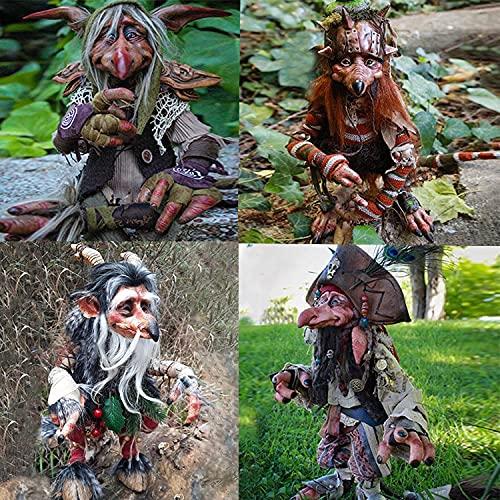 Decoración de jardín grande Kobold Böser pirata, decoración de jardín de Halloween, figura de personaje goblin para interior y exterior
