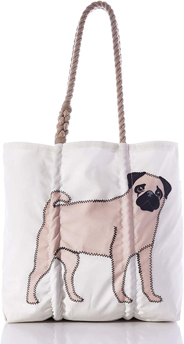 Sea Bags Recycled Sail Ranking TOP13 Pug Tote 5 ☆ very popular Cloth