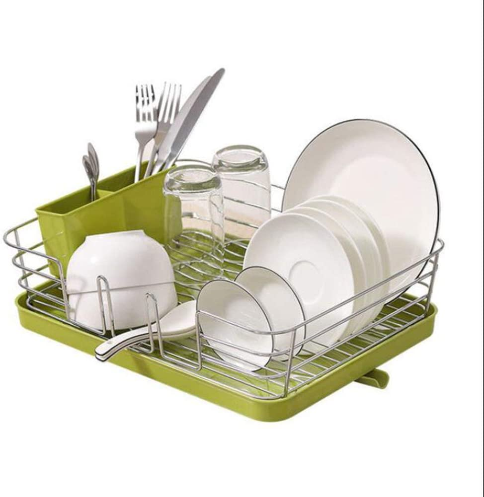 WUQIAO Dish Rack Drainer Plate Sink in Some reservation Max 62% OFF Holder Basket O