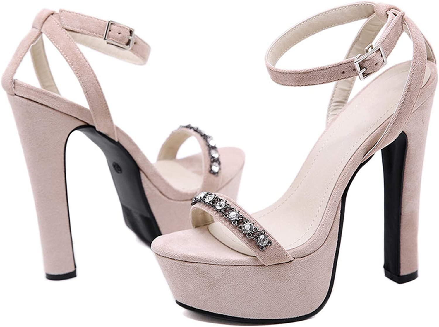 Heeled Sandals Sexy Super High Heels Ankle Strap Pumps Party Dress shoes