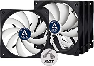 ARCTIC F12 PWM PST (Value Pack, 4 Pack) - 120 mm PWM PST Case Fan with PWM Sharing Technology (PST), Very Quiet Motor, Com...