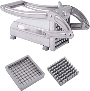 73JohnPol Stainless Steel French Fries Slicer Potato Chipper Cutter Chopper Maker,Silver