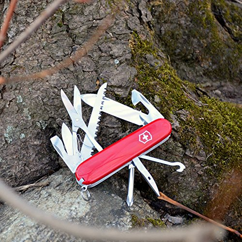 Victorinox Swiss Army Fieldmaster Pocket Knife, Red,91mm