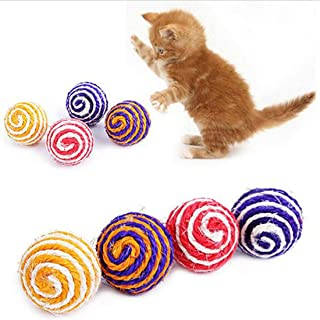 Cat Pet - Big Cat Pet Sisal Rope Woven Ball Teaser Playing Chewing Rattle Scratch Catch