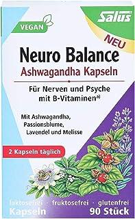 Salus Neuro Balance Bio Ashwagandha Cápsulas - para Nerven y Psyche - con B vitaminas - veganas - 90 Cápsulas