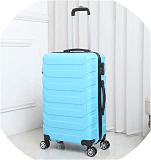 20-24 Inch Suitcase With Wheels Travel Cabin Spinner Rolling Luggage Women Trolley Suitcase,Blue,20