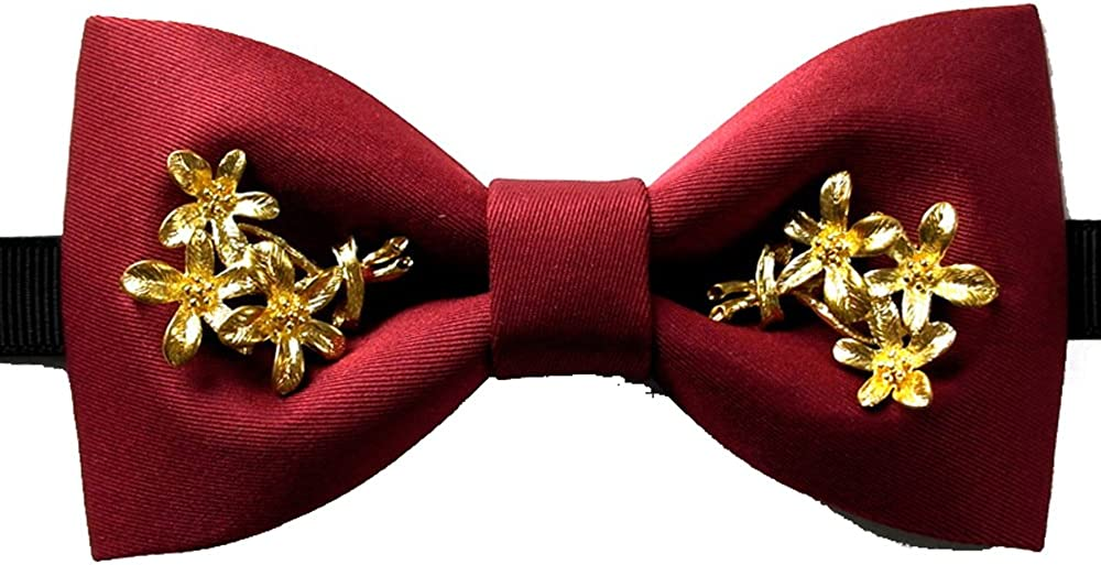 Cloud Rack Bow Tie Men Show Host Wedding Wedding Golden Flower Vine Inlaid