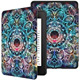 VORI Case for All-New Kindle Paperwhite (10th Generation, 2018 Release), Water-Safe Protective Soft TPU Smart Cover with Auto Sleep/Wake for Amazon Kindle Paperwhite 2018 EReader, Mandalas