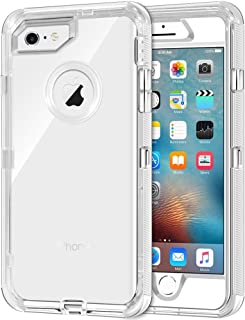 iPhone 6S Case, iPhone 6 Case, Anuck 3 in 1 Hybrid Heavy Duty Defender Case [Shock Absorption] Crystal Clear Protective Ha...