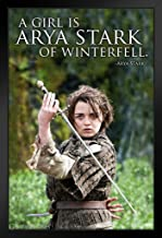 Pyramid America Game of Thrones A Girl is Arya Stark of Winterfell Quote Black Wood Framed Art Poster 14x20