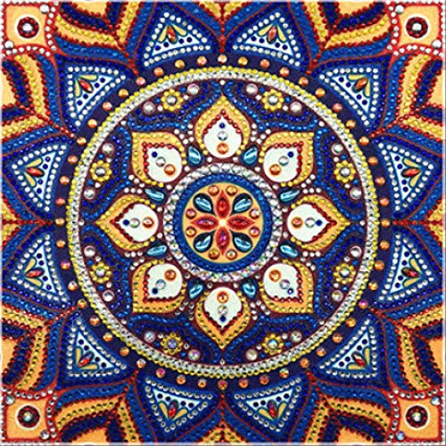 MIPINPAI diamantschilderij Shaped Diamond Painting Mandala Bloemen Modern patroon DIY 5D Parts Diamond Cross Stitch Kit Crystal Art 30 * 30CM B