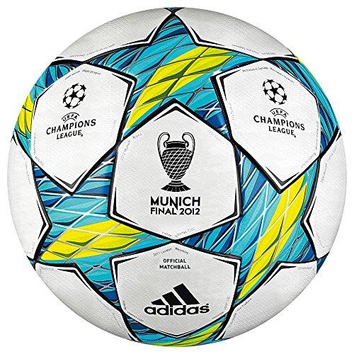 adidas Uni Fußball Finale Mun, white/slime/super cyan s12/dark indigo, 5, x10555