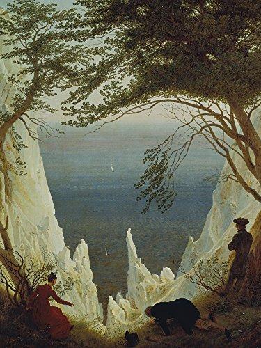 Artland Alte Meister Kunst Wandtattoo Caspar David Friedrich Bilder Romantik 120 x 90 cm Die Kreidefelsen von Rügen Kunstdruck Klebefolie Gemälde R0GF