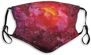 Vindtät aktiverad kolmask, yttre rymden, kosmos mjölkig väg galax abstrakt stjärndamm i akvarell design, ansiktsdekoration...