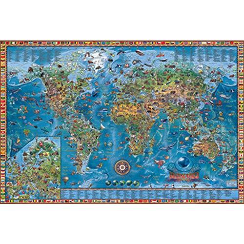 1000/2000/3000/4000/5000 Pieces Strange World Map Puzzel Houten Adult Puzzel Classic Home Decoration,4000PCS