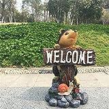 YYhkeby Huangjiahao Garten Willkommen Schilder Igel Willkommen Marke Willkommen Garten Hof Garten Dekoration Verzierungen for Garden Bar Cafe Shop Tor Tür (Farbe: Eine Farbe, Größe: 24X15cm) Jialele