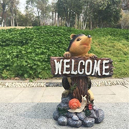YYhkeby Huangjiahao Garten Willkommen Schilder Igel Willkommen Marke Willkommen Garten-Hof-Garten-Dekoration-Verzierungen for Garden Bar Cafe Shop Tor Tür (Farbe: Eine Farbe, Größe: 24X15cm) Jialele