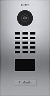 DoorBird IP Video Door Station D2101V, Brushed Stainless Steel, Flush-mounted with HD Camera - POE Capable