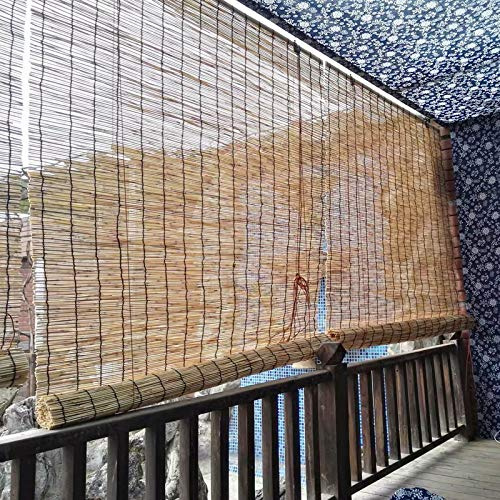 XYNH Tenda A Rullo bambù Decorativa, Tapparella A Carrucola in Bamboo Naturale, Tapparelle A Rullo Romane per Giardino, con Accessori, Tapparelle Ombra Arelle Sole, Larghezza da 60 A 150 Cm