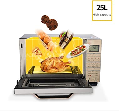 ZCHAN Lockout Feature   25L Microwave Oven Digital Display 900W, Auto Defrost, One-Touch Express Cook, Solo Microwave Oven Ea
